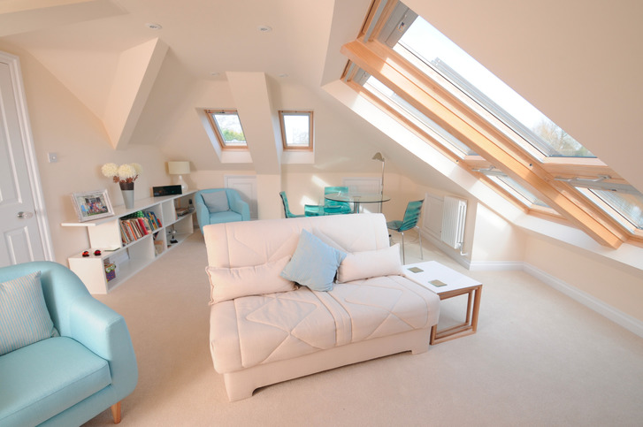 Full loft conversion with Velux Cabrio Balcony