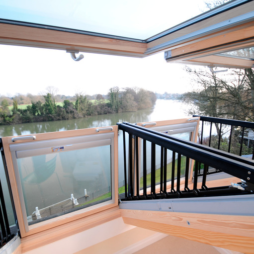 VELUX Cabrio balcony roof window in Bray