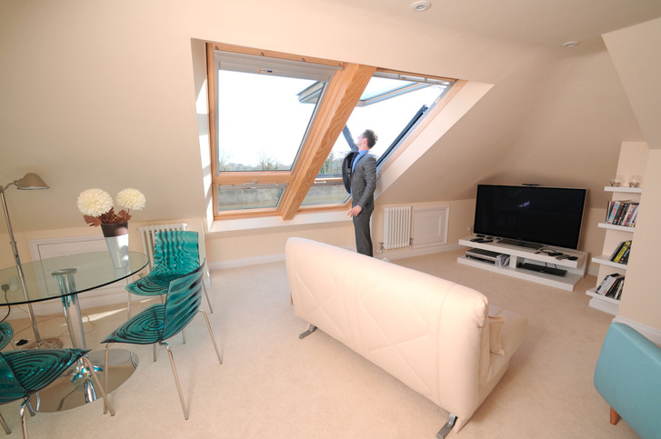 Full loft conversion with Cabrio Balcony roof windows, Buckinghamshire