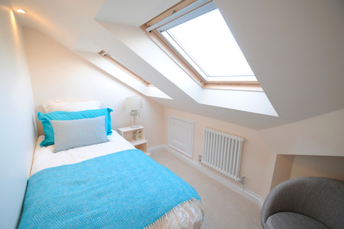 Bedroom in full loft conversion, Bray