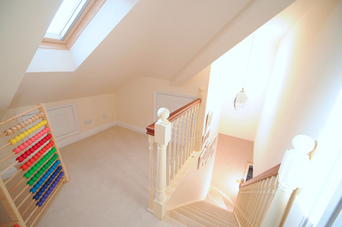 Bespoke hand-made staircase in full loft conversion, Berkshire