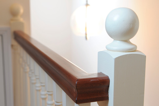 Baluster on staircase to Velux loft conversion, Bray