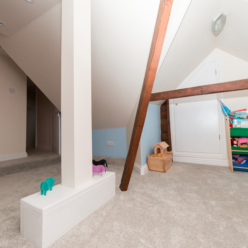 A part loft conversion creates deluxe loft storage areas