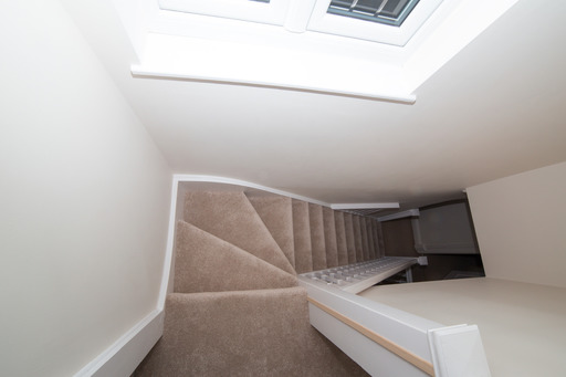 Staircase to rear dormer loft conversion