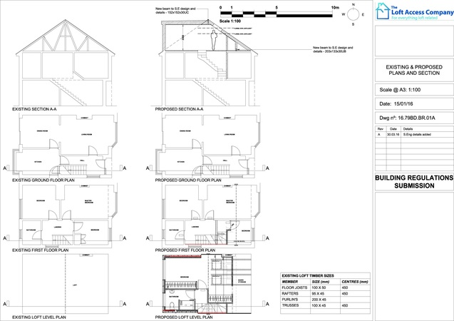 architectural drawings for loft conversion
