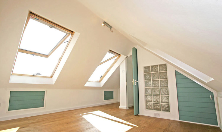 Part loft conversion with Velux roof window