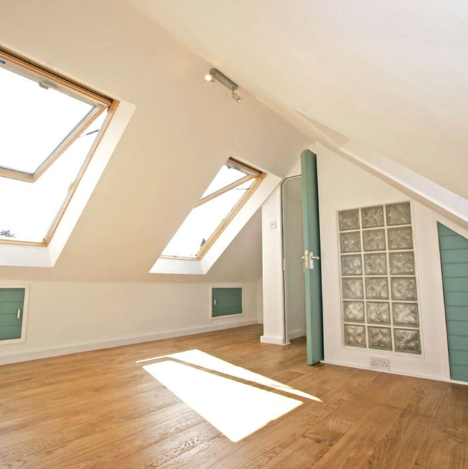 Part loft conversion with VELUX roof windows