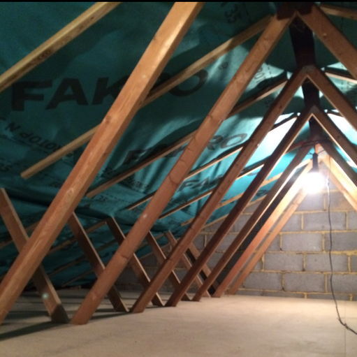 Loft insulation and dust lining