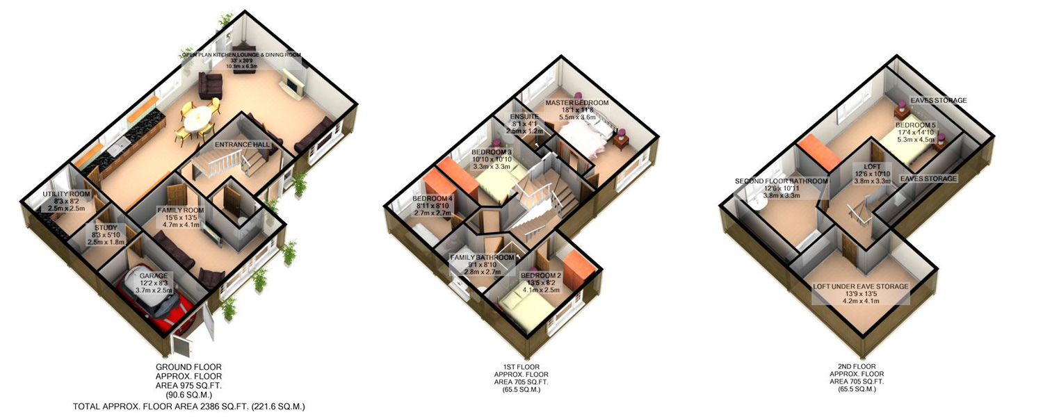 3D floor plan for loft conversion