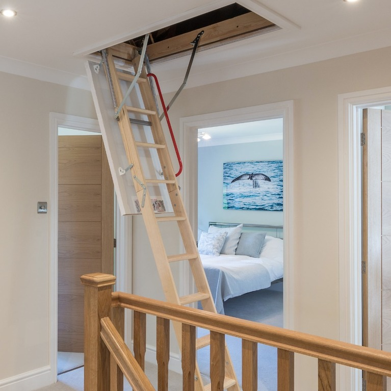Fakro timber folding loft access ladder windsor