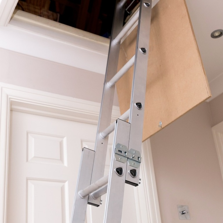 Aluminium two section access ladder windsor