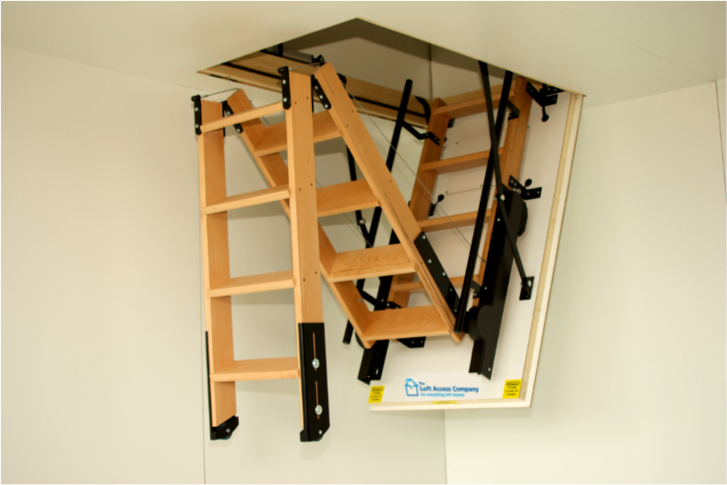 Electric loft access ladders