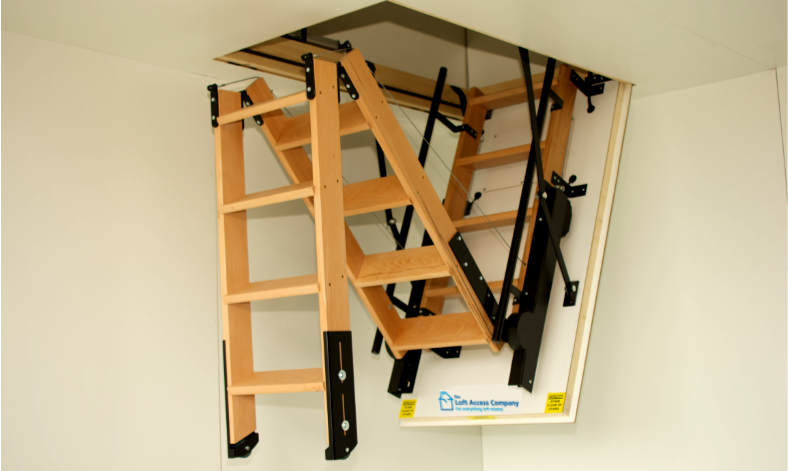 Timber electric loft ladder windsor