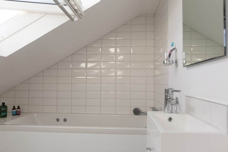 Bath in dormer loft conversion in Maidenhead