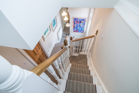 Loft conversion traditional staircase refurbishment, Berkshire