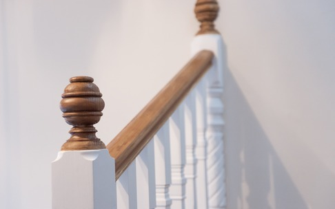 Balusters on traditional staircase, Maidenhead