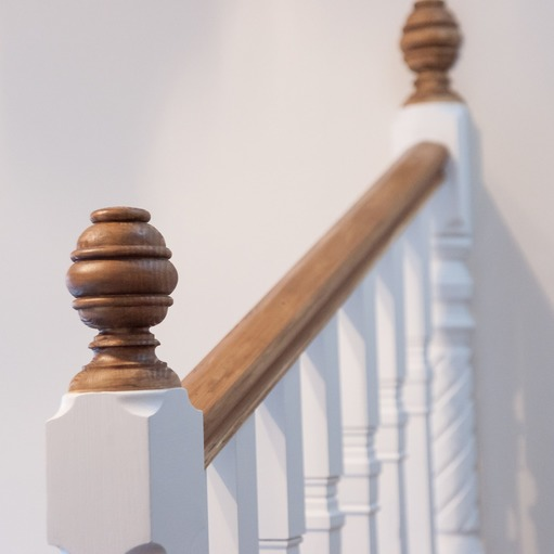 Baluster on traditional staircase in Maidenhead