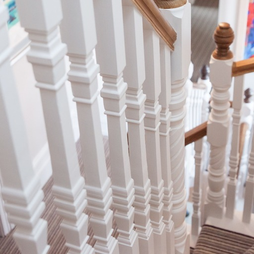 Traditional style spindles on Maidenhead staircase