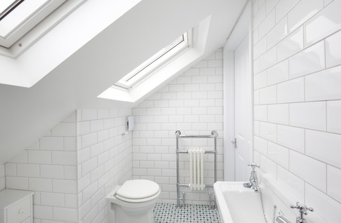 Wetroom in dormer loft conversion, burnham
