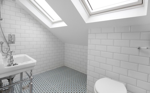 Bathroom in dormer loft conversion, Burnham