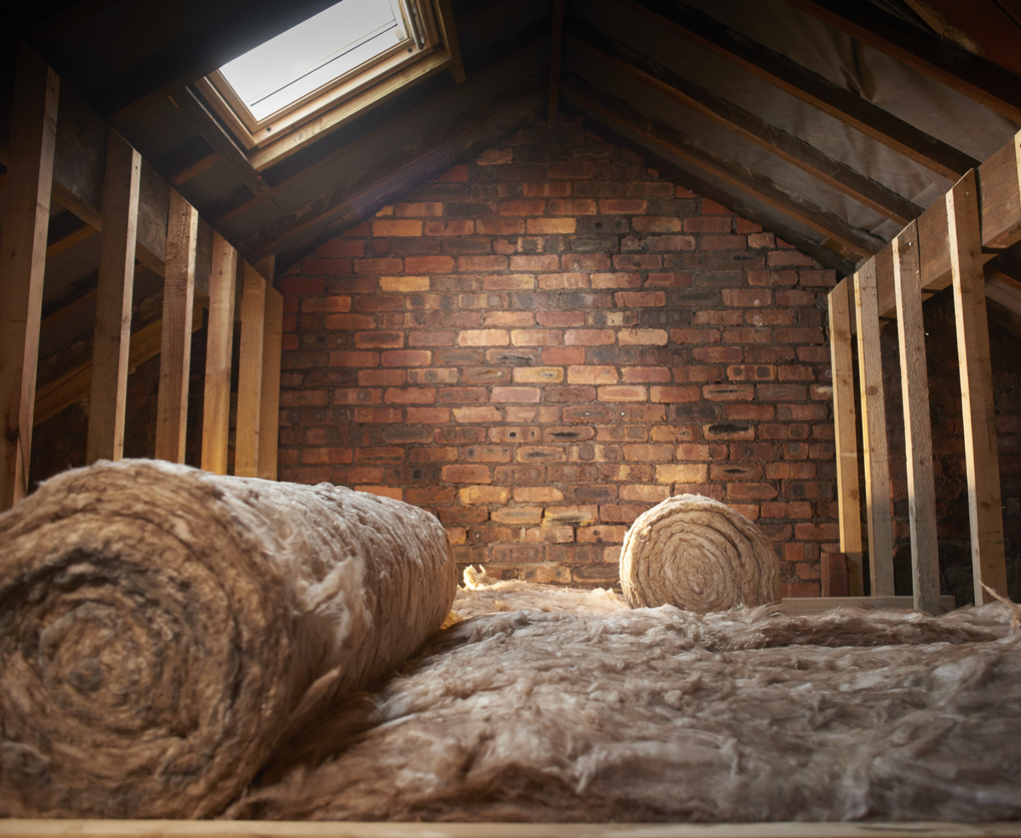 Loft insulation, preventing against heat loss